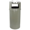 Rubbermaid® Commercial Ash/Trash Classic Container w/o Doors, Round, 25gal, Beige RCP818288BEI