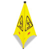 Rubbermaid® Commercial Three-Sided Caution, Wet Floor Safety Cone, 21w x 21d x 30h, Yellow - FG9S0100YEL