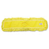 "Trapper Commercial Dust Mop, Looped-end Launderable, 5"" x 36"", Yellow"