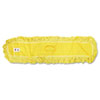 "Trapper Commercial Dust Mop, Looped-end Launderable, 5"" x 48"", Yellow"