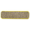 "Microfiber Scrubber Pad, Vertical Polyprolene Stripes, 18"", Yellow, 6/Carton"