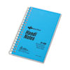 National® Brand Wirebound Memo Book, Narrow Rule, 5 x 3, White, 60 Sheets RED31220