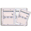 Desk Saver Line Wirebound Message Book, 5 1/2 x 4, Two-Part, 100 Sets/Book