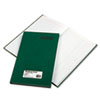 "Rediform Green Bookcloth Journal book - 150 Sheet(s) - Gummed - 12.25"" x 7.25"" Sheet Size - White Sh RED56112"