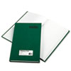 Emerald Series Account Book, Green Cover, 300 Pages, 12 1/4 x 7 1/4