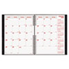 Brownline Hard Cover Twin-Wire Monthly Planner - Julian - Monthly - 1.2 Year - December 2016 till Ja REDCB1262CBLK