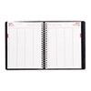 Brownline Essential 4-Person Appointment Book - Julian - Daily - January 2017 till December 2017 - 7 REDCB960BLK