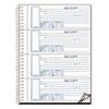 Spiralbound Unnumbered Money Receipt Book, 7 x 2 3/4, Three-Part, 120 Sets/Book
