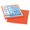 Tru-Ray Construction Paper, 76lb, 9 x 12, Pumpkin, 50/Pack