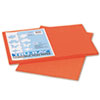 Tru-Ray Construction Paper, 76lb, 12 x 18, Pumpkin, 50/Pack