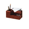 Rolodex™ Wood Tones Desk Organizer, Wood, 4 1/4 x 8 3/4 x 4 1/8, Mahogany ROL1734648