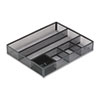 Rolodex™ Deep Desk Drawer Organizer, Metal Mesh, Black ROL22131