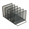 Rolodex™ Mesh Stacking Sorter, Five Sections, Metal, 8 1/4 x 14 3/8 x 7 7/8, Black ROL22141