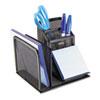 Rolodex™ Wire Mesh Desk Organizer with Pencil Storage, 5 3/4 x 5 1/8 x 5 1/8, Black ROL22171