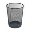 Rolodex™ 4 1/2 Gallon Steel Black Round Mesh Trash Can ROL22351