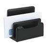 Rolodex™ Wood Tones Desktop Sorter, Three Sections, Wood, Black ROL62525
