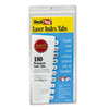 Laser Printable Index Tabs, 7/16 Inch, White, 180/Pack
