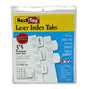 Redi-Tag® Laser Printable Index Tabs, 1 1/8 x 1 1/4, White, 375/Pack RTG39017