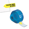 "Arrow Message Page Flags in Dispenser, ""Please Sign and Date"", Yellow, 120 Flags"