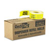 """Arrow Message Page Flag Refills, """"Sign Here"""", Yellow, 6 Rolls of 120 Flags"""