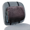 "Rubbermaid Adjustable Lumbar Backrest - Hook & Loop, Adjustable - 12.9"" x 2.8"" x 10.8"" - Black RCP8248ELD"