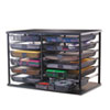 "12-Compartment Organizer with Mesh Drawers, 23 4/5"" x 15 9/10"" x 15 2/5"", Black"