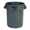 Rubbermaid® Commercial Round Brute Container, Plastic, 20 gal, Gray RCP262000GRA