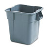 <strong>Rubbermaid® Commercial</strong><br />Brute Container, Square, Polyethylene, 28 gal, Gray