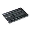 Rubbermaid® Regeneration Nine-Section Drawer Organizer, Plastic, Black RUB45706