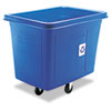 Recycling Cube Truck, Rectangular, Polyethylene, 500lb Cap, Blue