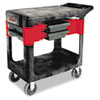 Trades Cart, Two-Shelf, 19-1/4w x 38d x 33-3/8h, Black