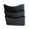 Unbreakable Three Pocket Wall File Set, Letter, Smoke