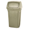<strong>Rubbermaid® Commercial</strong><br />Ranger Fire-Safe Container, Square, Structural Foam, 35 gal, Beige
