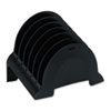Rubbermaid® Plastic Incline Sorter, Six Sections, 9 5/8 x 6 1/2 x 7 3/8, Black RUB86023