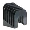 Rubbermaid® Six-Tier Jumbo Incline Sorter, Plastic, 9 3/8 x 10 1/2 x 7 3/8, Black RUB96601ROS
