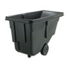 Rubbermaid® Commercial Tilt Truck, Rectangular, Plastic w/Steel Frame, 300lb Cap, Black - FG9T1700BLA