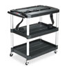 MediaMaster Three-Shelf AV Cart, 18-5/8w x 32-1/2d x 32-1/8h, Black