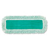 "DUST PAD WITH FRINGE, MICROFIBER, 18"" LONG, GREEN, 6/CARTON"