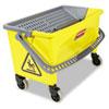 HYGEN Press Wring Bucket for Microfiber Flat Mops, Yellow