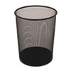 Rubbermaid® Commercial Steel Mesh Wastebasket, Round, 5gal, Black RCPWMB20BK