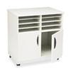 """Safco 1851GR Printer Stand - 200 lb Load Capacity - 6 x Shelf(ves) - Hinged Door - 30.5"""" Height x 28 SAF1851GR"""
