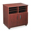 Safco® Laminate Machine Stand w/Sorter Compartments, 28w x 19-3/4d x 30-1/4h, Mahogany SAF1851MH