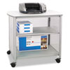 Safco® Impromptu Deluxe Machine Stand, 34-3/4w x 25-1/2d x 31h, Gray SAF1858GR