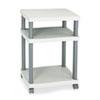 Safco® Wave Design Printer Stand, Three-Shelf, 20w x 17-1/2d x 29-1/4h, Charcoal Gray SAF1860GR