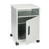 Safco® Steel Machine Stand w/Compartment, One-Shelf, 15-1/4w x 17-1/4d x 27-1/4h, Gray SAF1871GR
