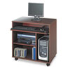 Safco® Ready-to-Use PC Workstation, 31-3/4w x 19-3/4d x 31-1/2h, Mahogany Laminate Top SAF1901MH