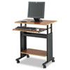 Adjustable Height Workstation, 29.5w x 22d x 34h, Cherry/Black