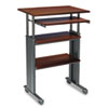 Safco® Adjustable Height Stand-Up Workstation, 29w x 22d x 49h, Cherry/Black SAF1929CY