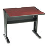 Computer Desk W/ Reversible Top, 35-1/2w x 28d x 30h, Mahogany/Medium Oak/Black