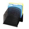 Safco® Mesh Desk Organizer, Eight Sections, Steel, 11 1/4 x 10 7/8 x 13 3/4, Black SAF3258BL